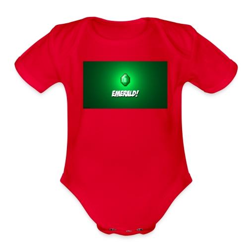 glow in dark - Organic Short Sleeve Baby Bodysuit