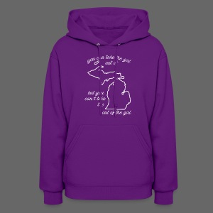 You can take the girl out of Michigan... - Women's Hoodie