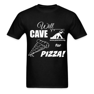 Will Cave For Pizza - Men's T-Shirt - Men's T-Shirt