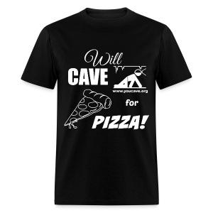 Will Cave For Pizza - Men's T-Shirt - Men's T-Shirt