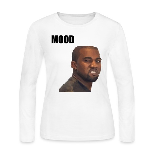 MOOD Kanye West - Women's Long Sleeve Jersey T-Shirt