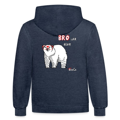 Bro-lar Bear Hoody - Contrast Hoodie