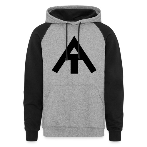 Big AE symbol rise above hoodie - Colorblock Hoodie