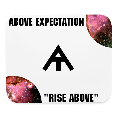Above Expectation Mouse pad (Black) - Mouse pad Horizontal