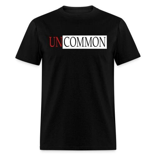 UNCOMMON black tee - Men's T-Shirt