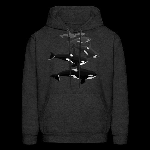 Orca Whale Hoodie Men's Killer Whale Hoodie Sweatshirt - Men's Hoodie