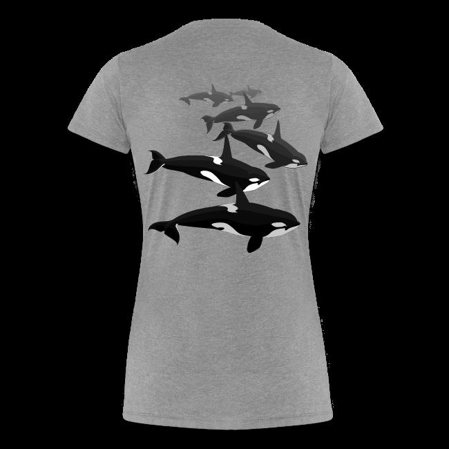 Orca Whale T-shirt Women's Killer Whale Shirts Sm - 3xl