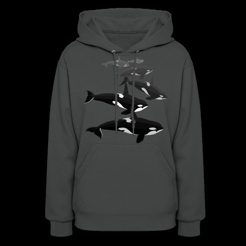 Orca Whale Hoodie Women's Killer Whale Hoodie Sweatshirt - Women's Hoodie