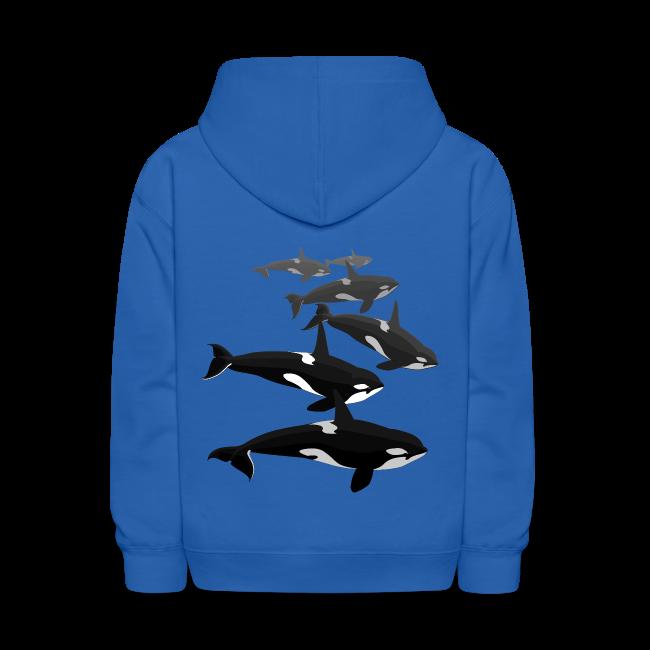 Orca Whale Hoodie Kid's Killer Whale Hoodie Sweatshirt