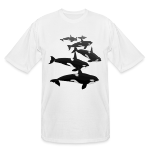 Orca Whale T-shirt Men's Killer Whale Shirts Sm - 5xl - Men's Tall T-Shirt
