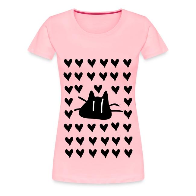 LOVE LOVE CAT Women's Premium T-Shirt