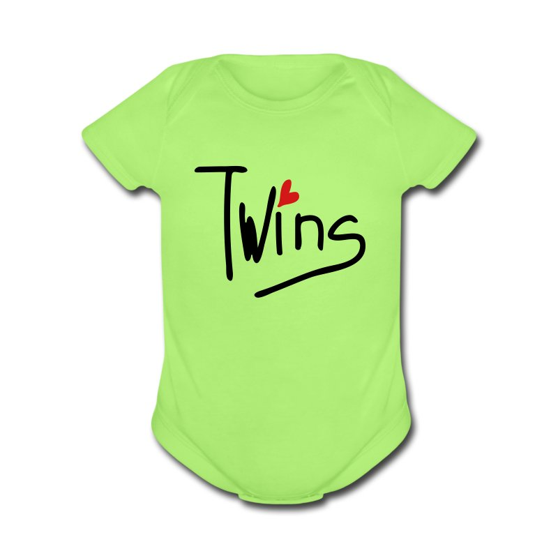 Twins Short Sleeve Baby Bodysuit - Short Sleeve Baby Bodysuit