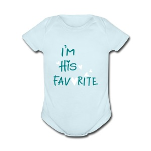 I'm his favorite Short Sleeve Baby Bodysuit - Short Sleeve Baby Bodysuit