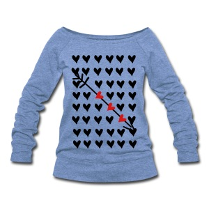 Hearts hearts Women's Wideneck Sweatshirt - Women's Wideneck Sweatshirt