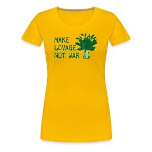 Make Lovage Not War -Premium Tee - Women's Premium T-Shirt
