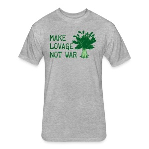 Make Lovage Not War - Fitted Cotton/Poly T-Shirt by Next Level