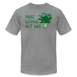 Make Lovage Not War - Men's T-Shirt by American Apparel