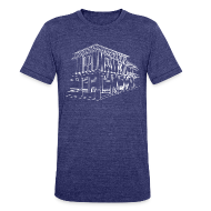 T-Shirts ~ Unisex Tri-Blend T-Shirt by American Apparel ~ Dreams to Acts Campus Illustration T-Shirt (Indigo)
