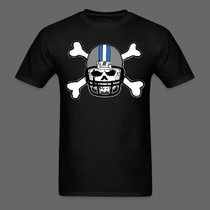 Detroit Football Skull and Bones - Men's T-Shirt