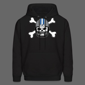 Detroit Football Skull and Bones - Men's Hoodie