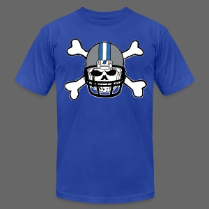 Detroit Football Skull and Bones - Men's T-Shirt by American Apparel