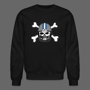 Detroit Football Skull and Bones - Crewneck Sweatshirt