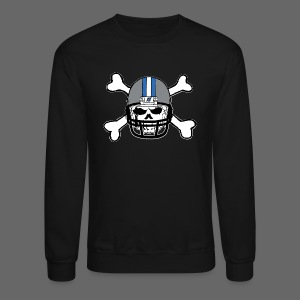 Detroit Football Skull and Bones - Crewneck Sweatshirt