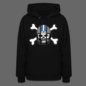 Detroit Football Skull and Bones - Women's Hoodie