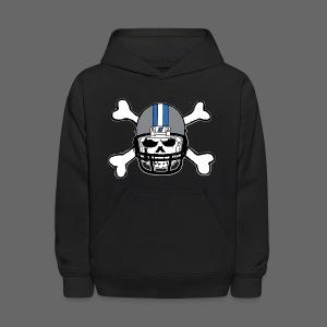 Detroit Football Skull and Bones - Kids' Hoodie