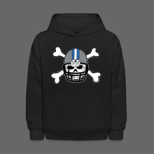 Detroit Football Skull and Bones - Kids' Hoodie