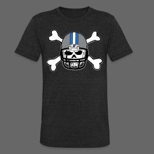 Detroit Football Skull and Bones - Unisex Tri-Blend T-Shirt