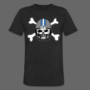 Detroit Football Skull and Bones - Unisex Tri-Blend T-Shirt by American Apparel