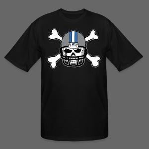 Detroit Football Skull and Bones - Men's Tall T-Shirt