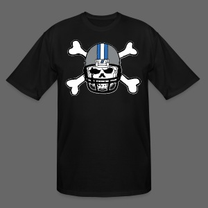 Detroit Football Skull and Bones - Men's Tall T-Shirt
