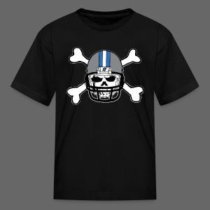 Detroit Football Skull and Bones - Kids' T-Shirt