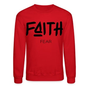 Faith is bigger Men's Crew Neck - Crewneck Sweatshirt