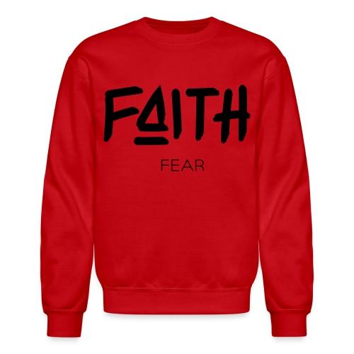 Faith is bigger Men's Crew Neck - Crewneck Sweatshirt