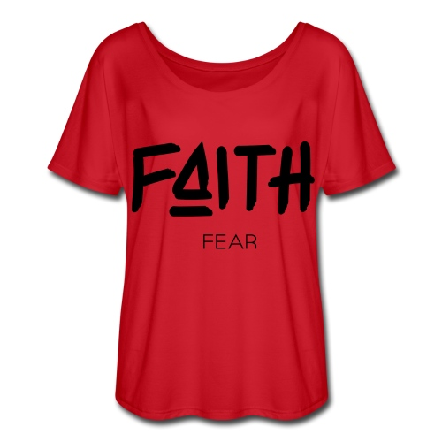 Faith is bigger Women's Flowy Shirt - Women's Flowy T-Shirt