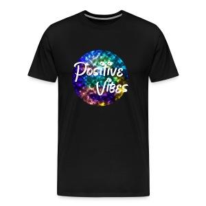 Positive Vibes - Galaxy/ Marble Tee Shirt - Men's Premium T-Shirt