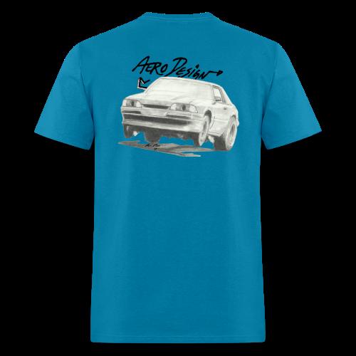 Foxbody Mustang T-Shirt (With Front Logo) - Men's T-Shirt