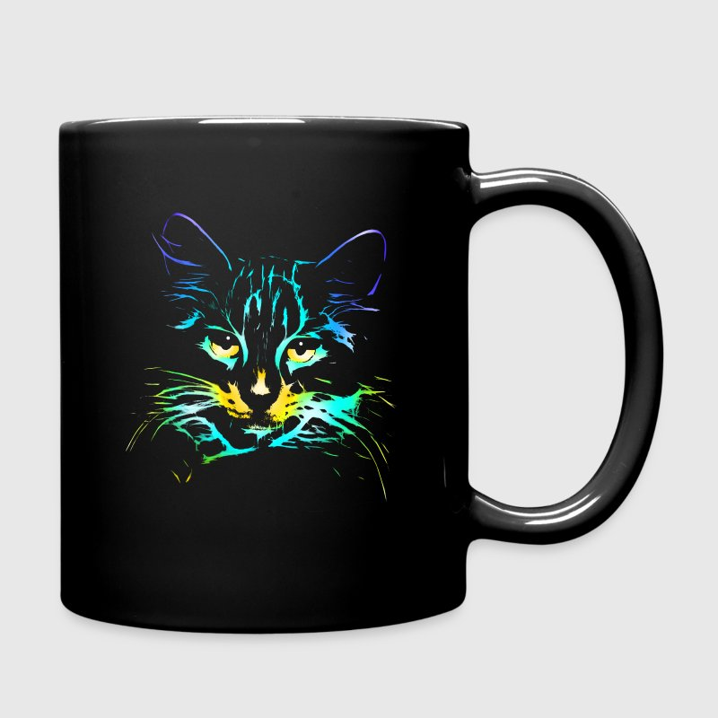 neon Cat Mugs & Drinkware - Full Color Mug