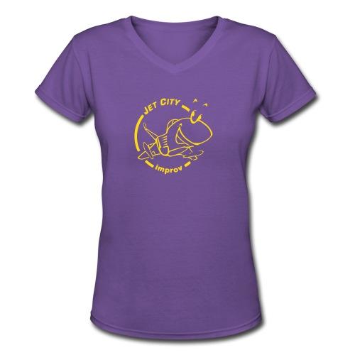 Women's JCI Tee - Go Dawgs Colorway - Women's V-Neck T-Shirt