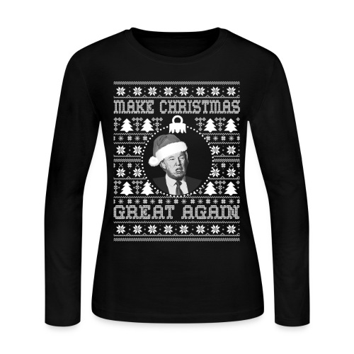 Trump ugly christmas sweatshirt female - Women's Long Sleeve Jersey T-Shirt