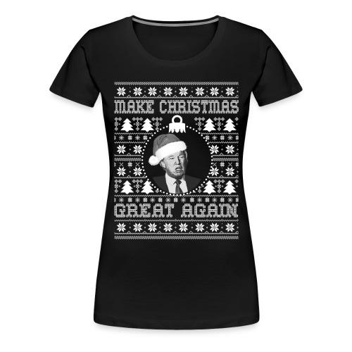 Trump ugly christmas t-shirt female - Women's Premium T-Shirt