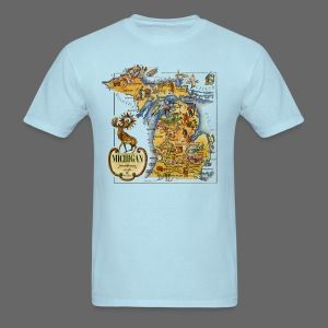 1946 Michigan Map - Men's T-Shirt
