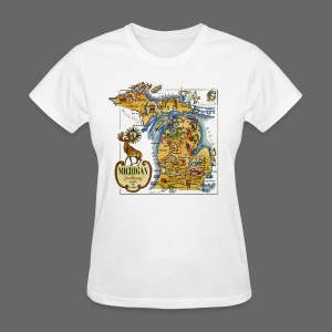 1946 Michigan Map - Women's T-Shirt