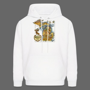 1946 Michigan Map - Men's Hoodie