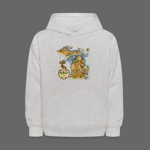 1946 Michigan Map - Kids' Hoodie