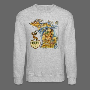1946 Michigan Map - Crewneck Sweatshirt