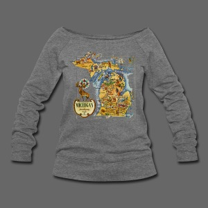 1946 Michigan Map - Women's Wideneck Sweatshirt